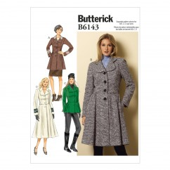 B6143 Misses' Jacket & Coat (size: 14-16-18-20-22)