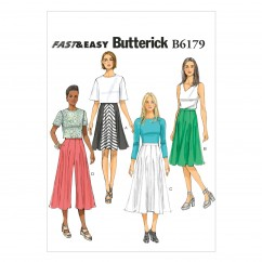 B6179 Misses' Skirt and Culottes (size: 14-16-18-20-22)