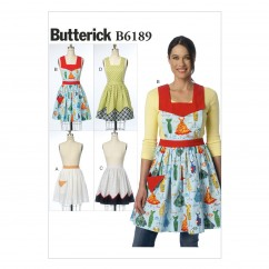 B6189 Misses' Aprons (size: All Sizes In One Envelope)