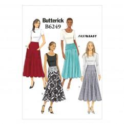 B6249 Misses' Skirt (Size: 6-8-10-12-14)