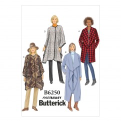 B6250 Misses' Jacket, Coat and Wrap (Size: XSM-SML-MED)