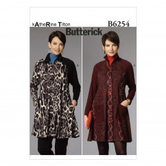 B6254 Misses' Coat Dress (Size: LRG-XLG-XXL)