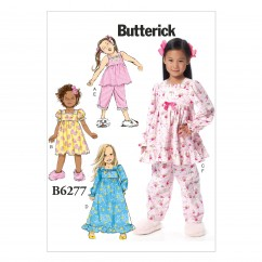 B6277 Children's/Girls' Top, Dress, Gown and Pants (Size: 2-3-4-5)