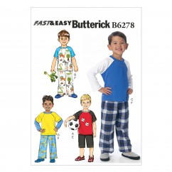 B6278 Children's/Boys' Top, Shorts and Pants (Size: 6-7-8)