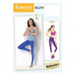 B6295 Misses' Bra Top, Top and Leggings (Size: 6-8-10-12-14)