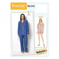 B6296 Misses' Top, Shorts and Pants (Size: 6-8-10-12-14)