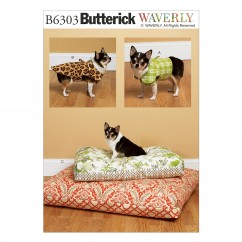 B6303 Dog Vest, Coat, and Bed In 2 Sizes (Size: All Sizes In One Envelope)