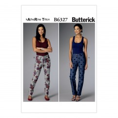 B6327 Misses' Tapered Pants (Size: 8-10-12-14-16)