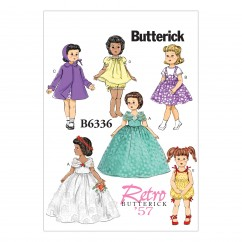 "B6336 Retro Outfits for 18"" Doll (Size: One Size Only)"