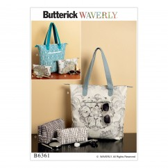 B6361 Tote Bags and Cosmetic Pouches (Size: One Size Only)