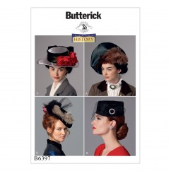 B6397 Misses' Hats in Four Styles (Size: One Size Only)