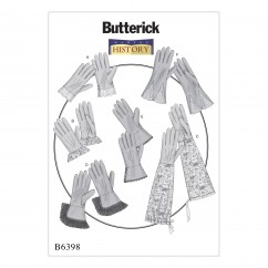 B6398 Misses' Gloves in Six Styles (Size: All Sizes in One Envelope)