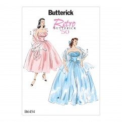 B6454 Misses' Ruffled Dresses and Shawls (Size: 14-16-18-20-22)