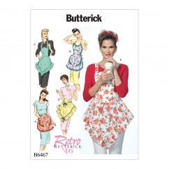B6467 Ruffled Full or Half Aprons (Size: 8-10-12-14-16-18-20-22)