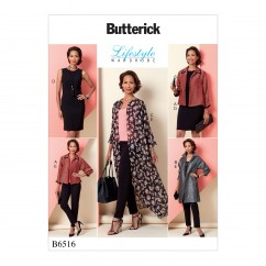 B6516 Misses' Jacket, Dress and Pants (Size: 8-10-12-14-16)