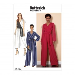 B6522 Misses'/Women's Jumpsuit and Sash (Size: 18W-20W-22W-24W)