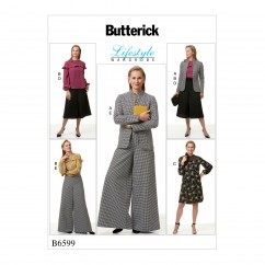 B6599 Misses' Jacket, Top, Dress and Pants (Size: 14-16-18-20-22)