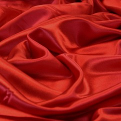 Crystal Satin Back Crepe - Red