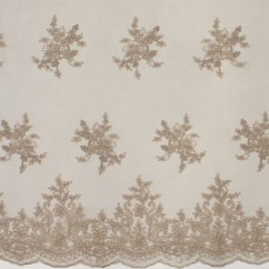 Erinn Embroidered Mesh - Taupe