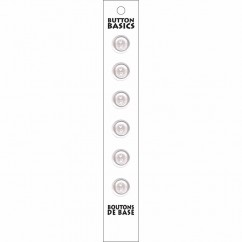 BUTTON BASICS - 12mm 2-Hole Buttons  - 6 pcs
