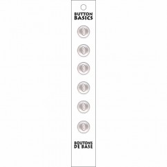 BUTTON BASICS - 11mm 2-Hole Buttons  - 6 pcs