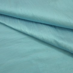 Boutique Silk Duppioni - Aqua Blue