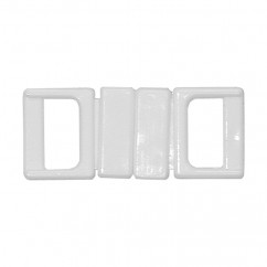 "ELAN Nylon Swimsuit Clasp - 10mm (⅜"") - White -2 pcs"