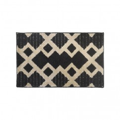 Soft Decorative Mat for Living Room, Bedroom, Bathroom and Kitchen - Geometric - Black - 20 x 32 inch (51 x 82 cm)