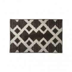 Soft Decorative Mat for Living Room, Bedroom, Bathroom and Kitchen - Geometric - Brown - 20 x 32 inch (51 x 82 cm)