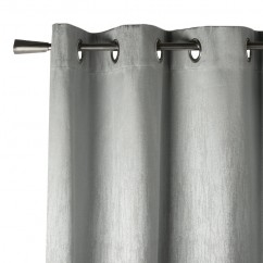 Blackout grommet curtain panel - Celeste - Silver - 52 x 84''
