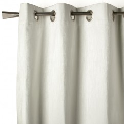 Blackout grommet curtain panel - Celeste - White - 52 x 84''