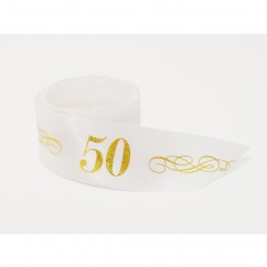 Single Face Satin Ribbon - 50 - Gold