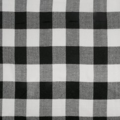 Rayon Yarn Dye - Gingham - Black