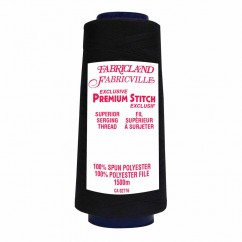 Fabricville Serging Thread 1500m - Black