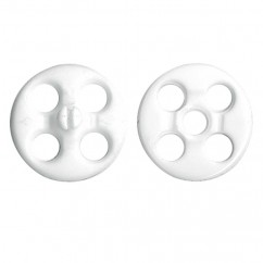 "ELAN - Fashion Snaps - 16mm (⅝"") - White -2 pcs"