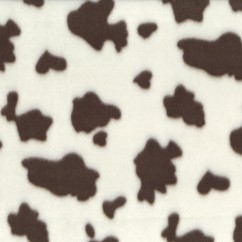 Fleece Skin Prints - Dairy Cow - Brown