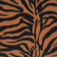 Fleece Skin Prints - Tiger - Orange
