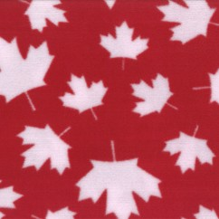 Canadiana Fleece Prints - Maple Leaf - Red