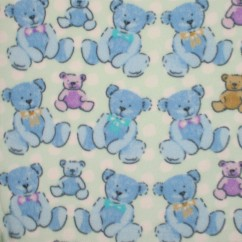 Blizzard Anti-pill Fleece Print - Teddy Bears - mint