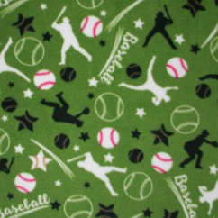 Blizzard Anti-pill Fleece Print - Baseball - green
