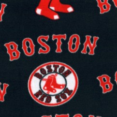 Boston Red Sox - Baseball Anti-pill Fleece Prints - Navy
