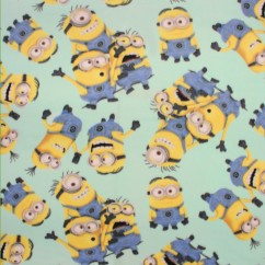 Licensed Fleece print - Minions - mint