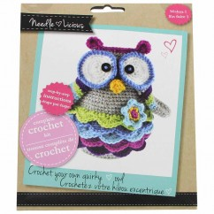 NEEDLE LICIOUS - Complete Crochet DIY Kit - Owl
