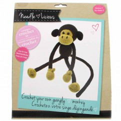 NEEDLE LICIOUS - Complete Crochet DIY Kit - Monkey