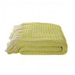 "KAS - HUXTON THROW - 50 x 67"" - CHARTREUSE"