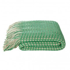 "KAS - HUXTON THROW - 50 x 67"" - GREEN"