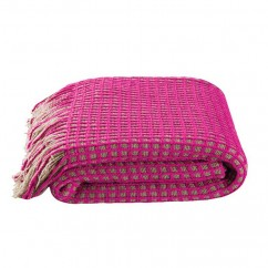 "KAS - HUXTON THROW - 50 x 67"" - PINK"