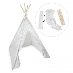 Foldable Fabric Teepee - White  - 46 x 46 x 65''