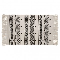 Carpet with fringe - Beige - 23 x 43''