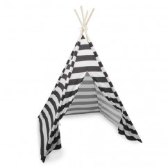 Foldable Fabric Teepee - Black - 46 x 46 x 65''